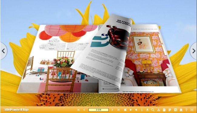 3D Page Flip eBook Optimism Theme