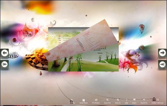 PDF to Flash Brochure (Pro) Calendar: Impact