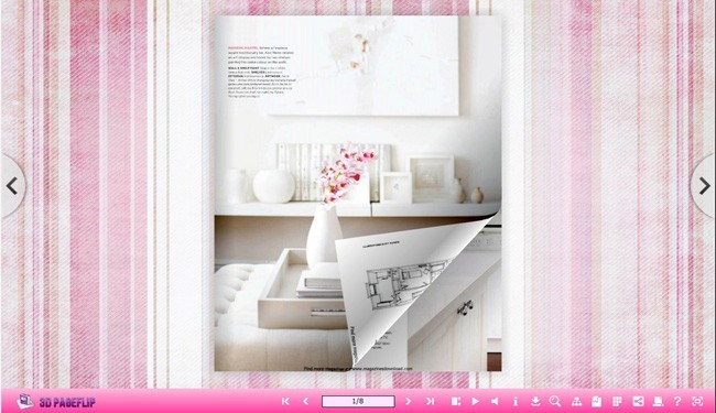 Briefness Theme for 3D Page Flip Book