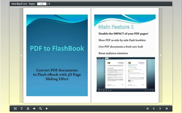 FlipPDF PDF to Flashbook