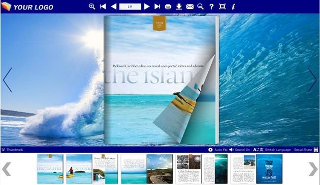 Flash Flip Book Templates of Sea Theme
