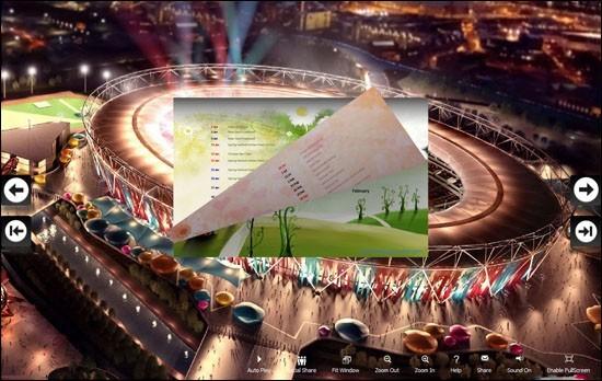 PDF to Flash Brochure (Pro) Calendar Theme: Olympics