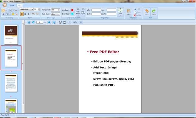 Free Flippdf Editor