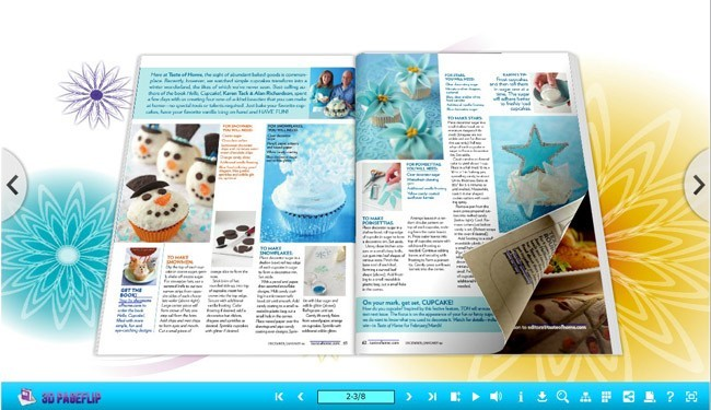 3D Page Flip book with Joyful Theme