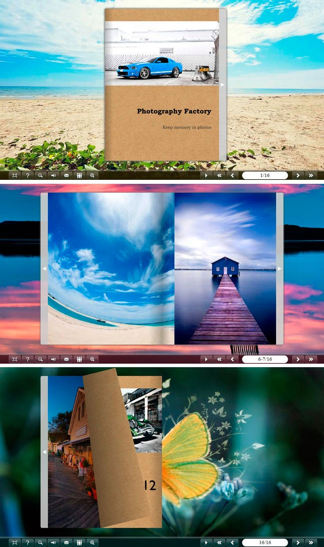 Classical Gallery Flip Theme Package