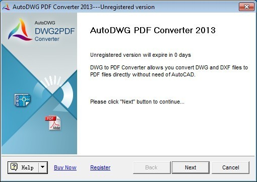 AutoDWG DWG to PDF Converter 2013