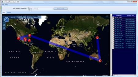 Open Visual Trace Route 1.1.1 Beta
