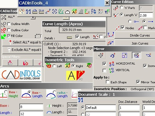 CADinTools Macros for CorelDRAW