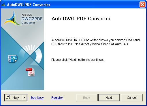 Smart DWG to PDF converter professional