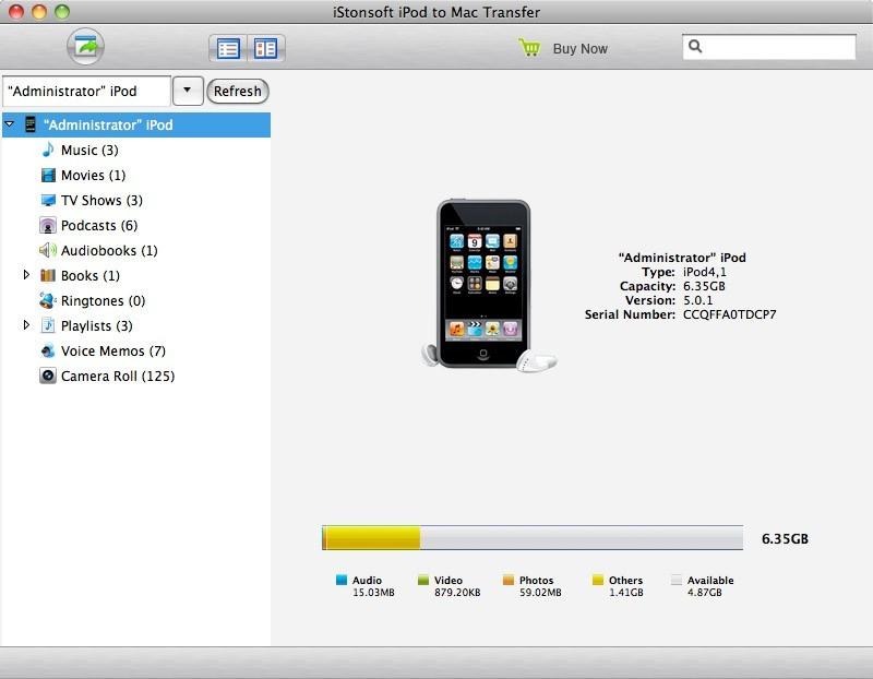 IStonsoft iPod to Mac Transfer