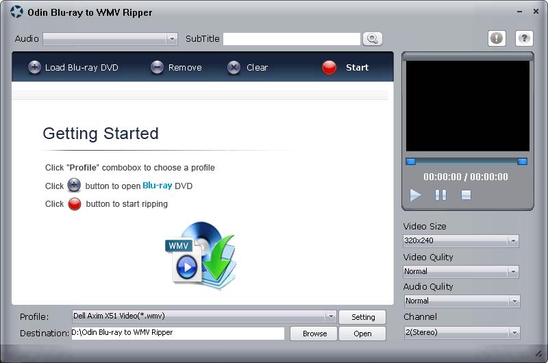 Odin Blu Ray to WMV Ripper