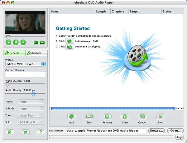 Joboshare DVD Audio Ripper for Mac