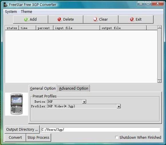 FreeStar Free 3GP Converter Freeware
