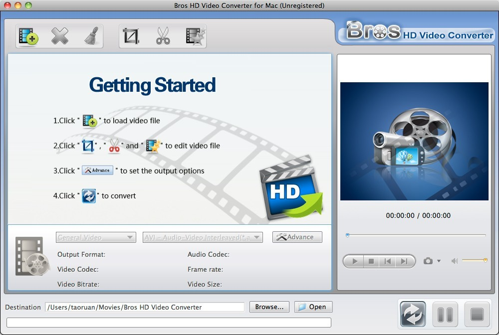 Bros HD Video Converter Mac
