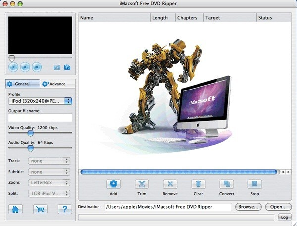 IMacsoft Free DVD Ripper for Mac