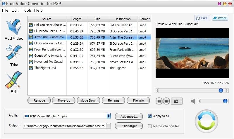 Free Video Converter for PSP