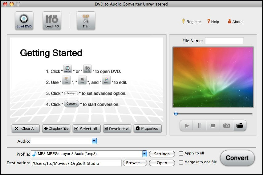 DVD to Audio Converter for Mac