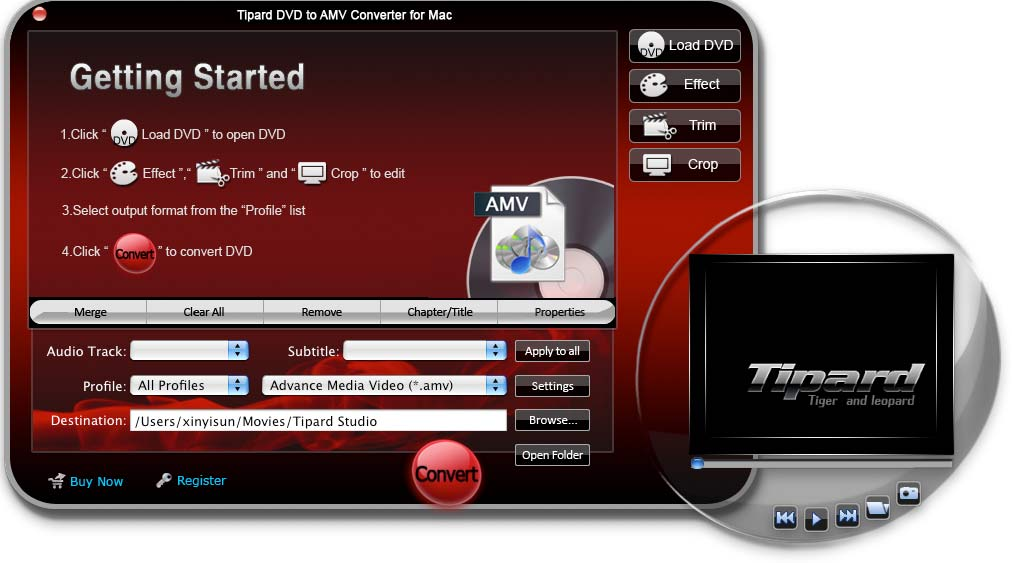 Tipard DVD to AMV Converter for Mac