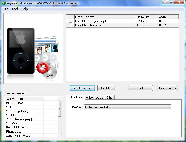 Agrin Mp4 iPhone to AVI WMV Converter