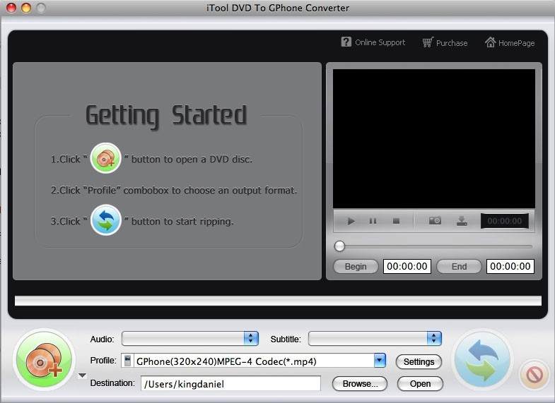 ITool DVD To GPhone Converter for MAC
