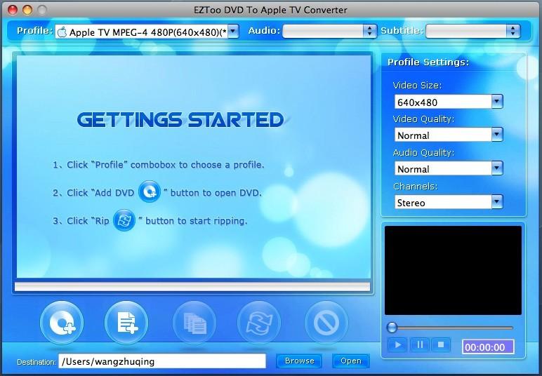 DVD To Apple TV Converter for MAC(PPC)