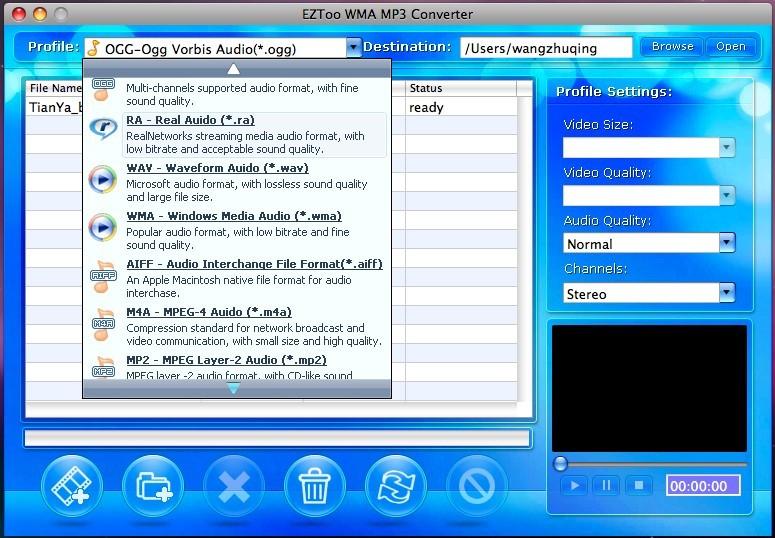 WMA MP3 Converter for MAC(PPC)
