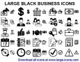 Large Black Business Icons