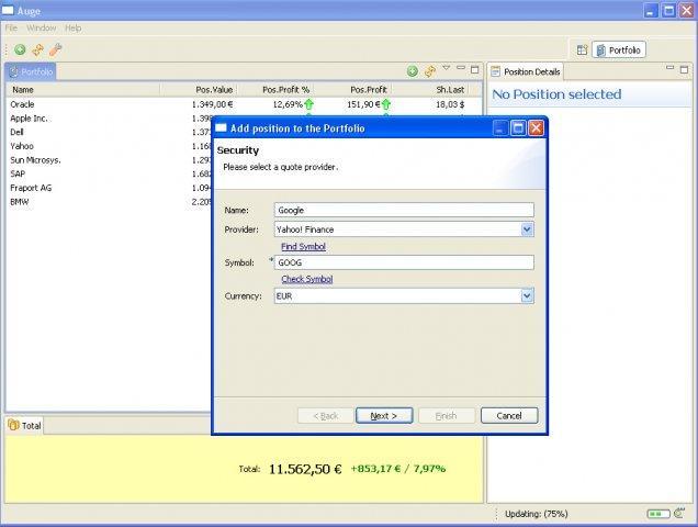 Auge - a portfolio management tool