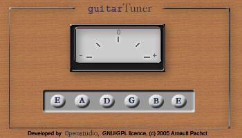 Guitar Tuner Java Applet