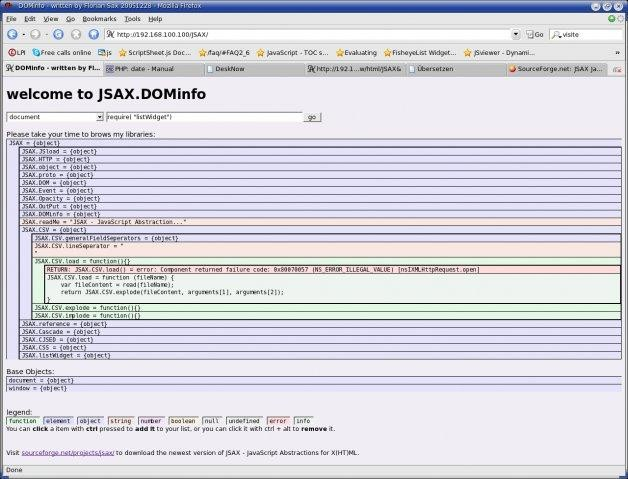 JSAX JavaScript Abstractions for X(HT)ML