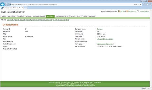 Kwok Information Server