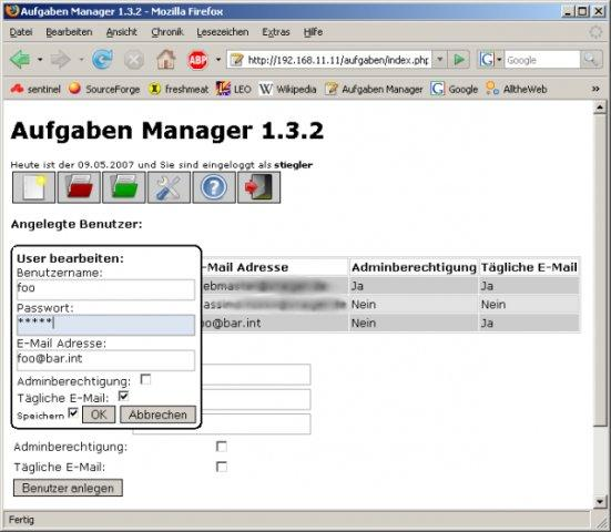 Php aufgabenmanager