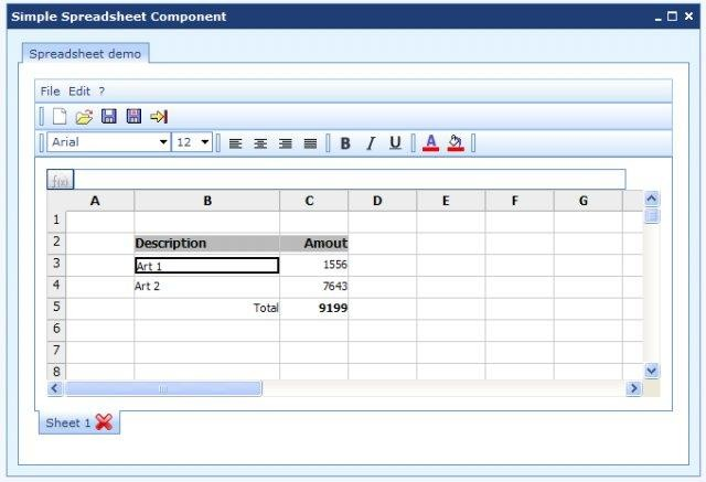 Simple Javascript Spreadsheet