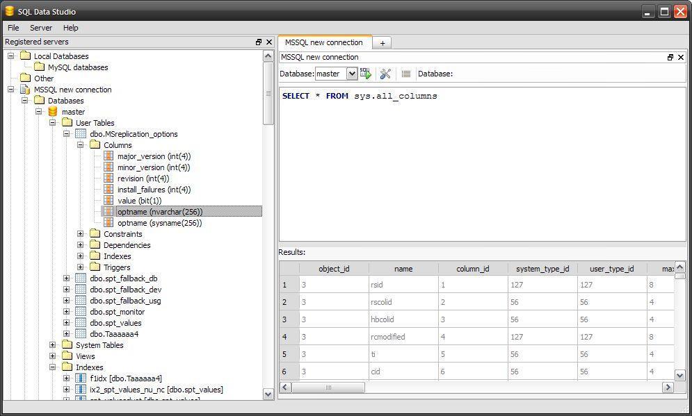 SQL Data Studio