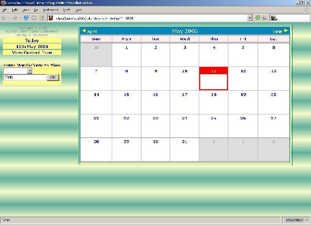 Solistic Calendar