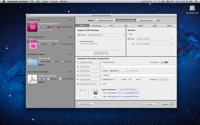 Exportools Standard for InDesign CS5/CS