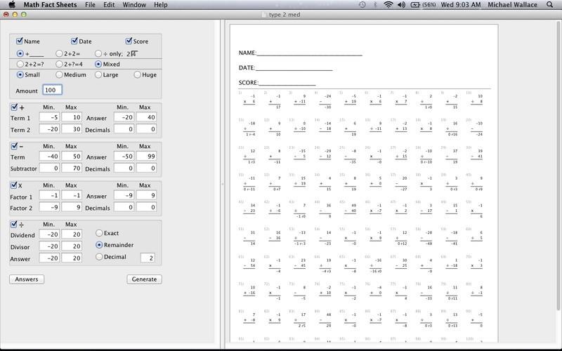 math worksheet : printable math worksheets  free printable math worksheets  : Division Facts Worksheet Generator