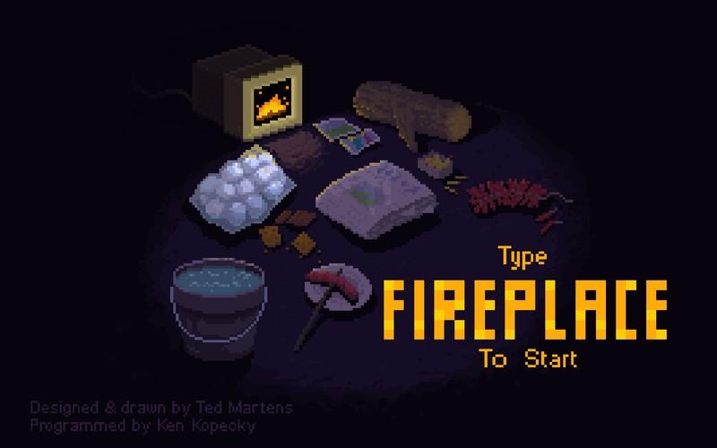 Pixel Fireplace