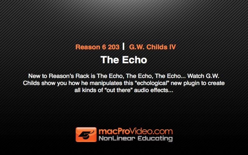 Reason 6 203 - The Echo
