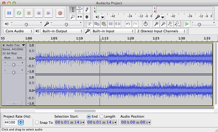 Audacity for Mac OS X