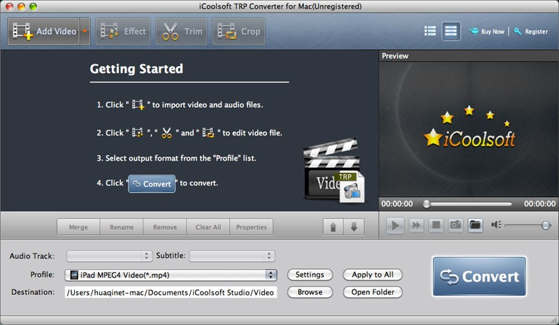 ICoolsoft TRP Converter for Mac