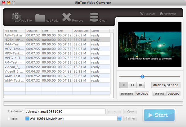 RipToo Video Converter for Mac