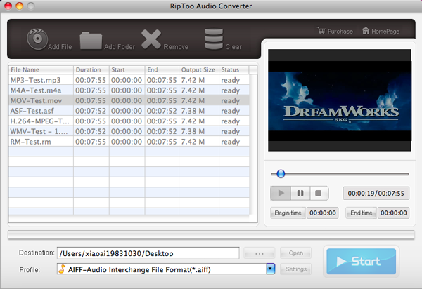 RipToo Audio Converter for Mac