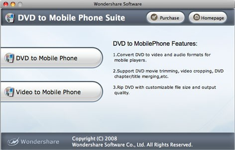 Wondershare DVD to Mobile Phone Suite for Mac