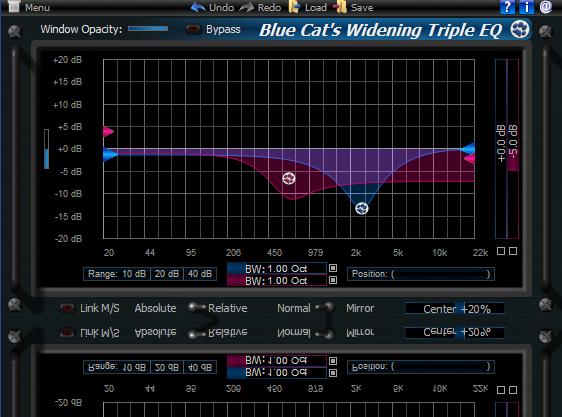 Blue Cat's Widening Triple EQ for Mac OS X