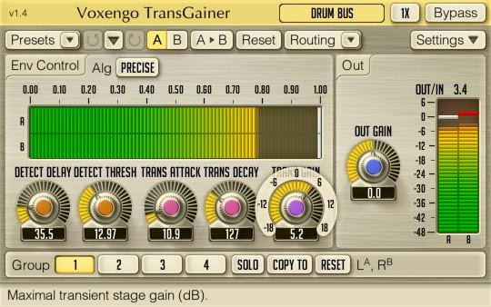 Voxengo TransGainer for Mac OS X