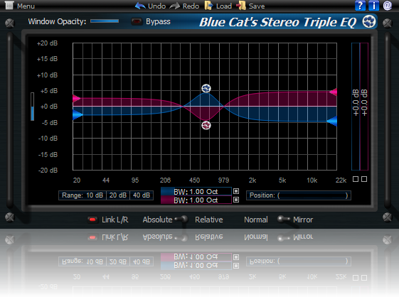 Blue Cat's Stereo Triple EQ for Mac OS X