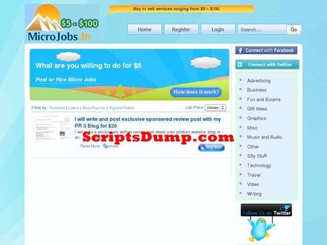 Best Fiverr Clone from ScriptsDump