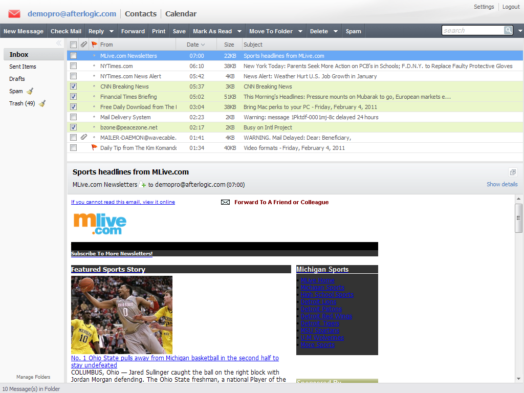 AfterLogic WebMail Lite .NET 5.0 free Download - E-Mail ...