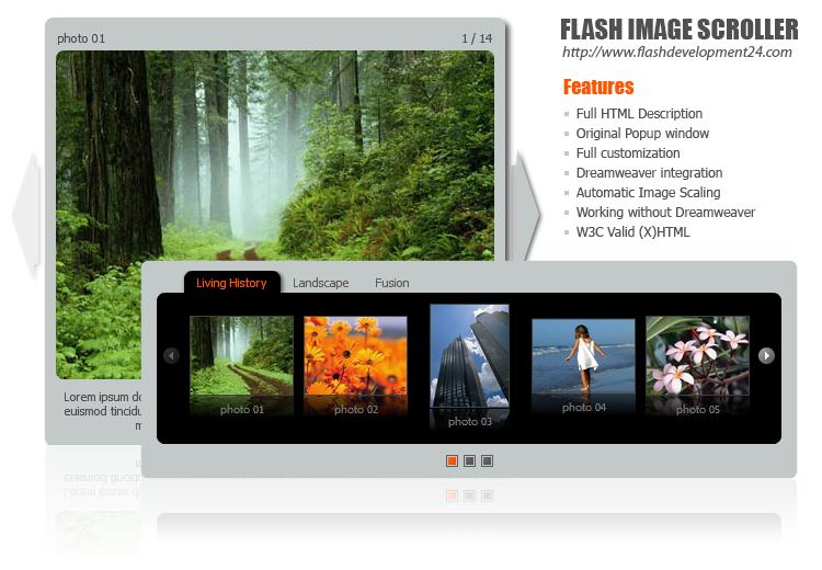 Flash Image Scroller DW Extension